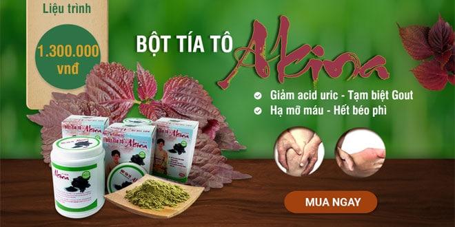 Akina plus - bột tía tô giảm acid uric, tạm biệt bệnh gout