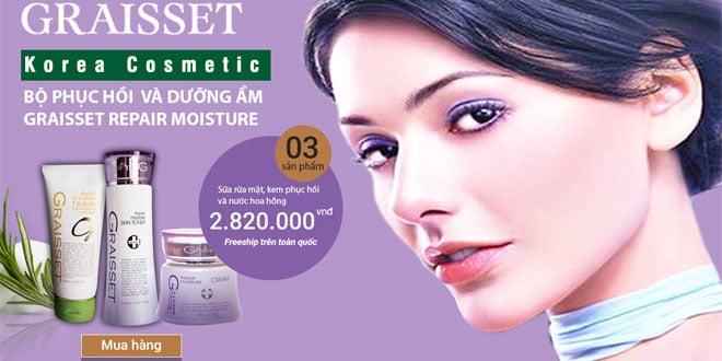 Graisset repair moiture bộ dưỡng ẩm và phục hồi da toàn diện
