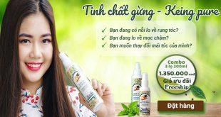 Keing pure kích thích mọc tóc – Tinh chất gừng tươi Thái Lan