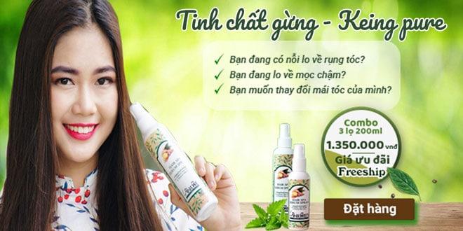 Keing pure kích thích mọc tóc - Tinh chất gừng tươi Thái Lan