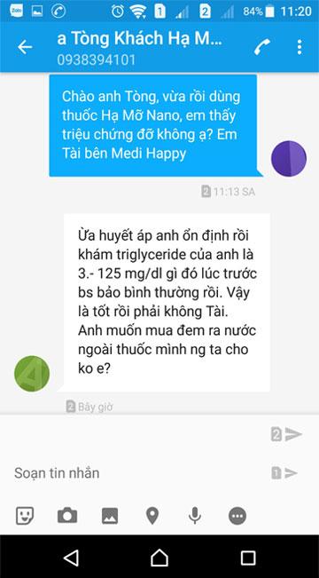Khách hàng nhận xét thuốc hamonano medi happy
