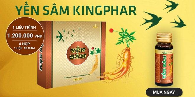 Yến sâm kingphar thực phẩm bảo vệ sức khỏe gia đình bạn